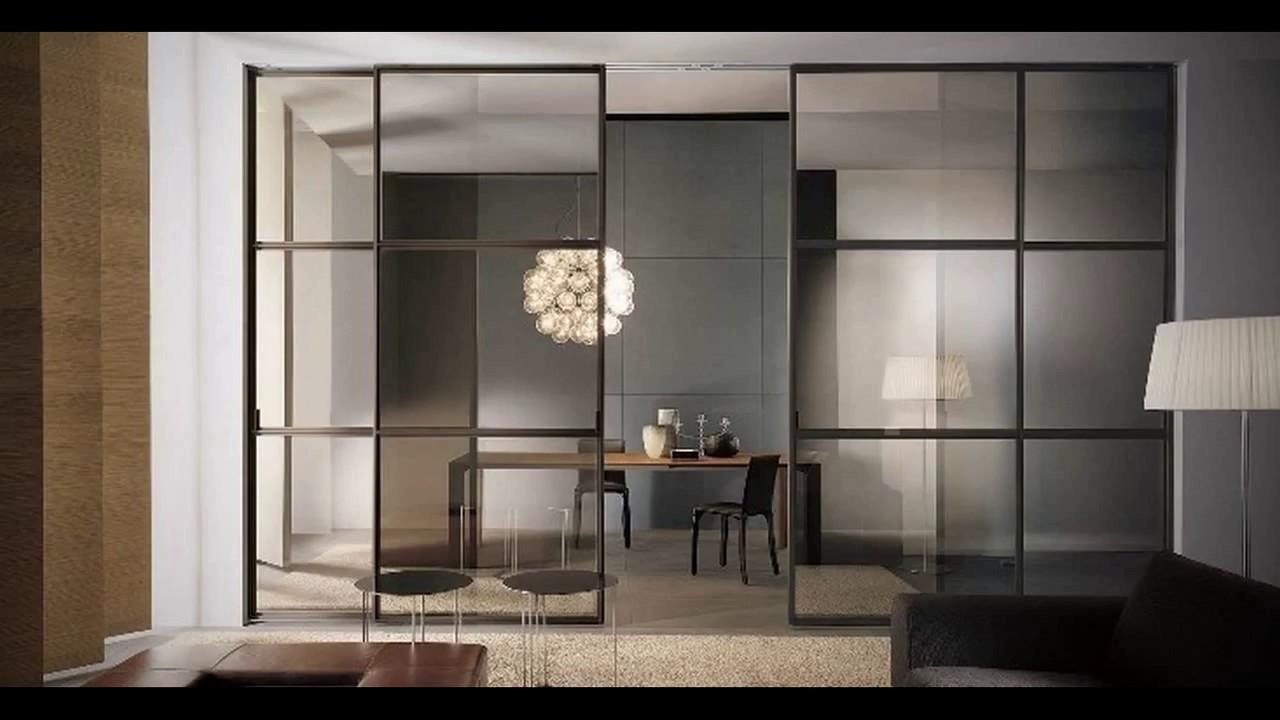 Раздвижные стеклянные двери – невидимое зонирование пространства