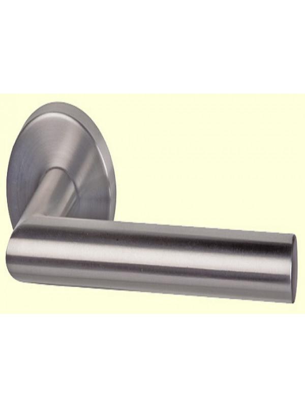 Ручка дверная Almar ALBA (круглая розетка), d50, матовая нержавейка - Фурнитура