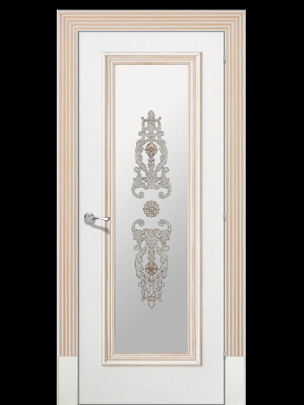 Доже 1 со стеклом  - Межкомнатные двери, Окрашенные двери