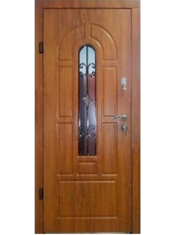 Арка с ковкой и притвором Эконом улица  - Входные двери, Входные двери в дом