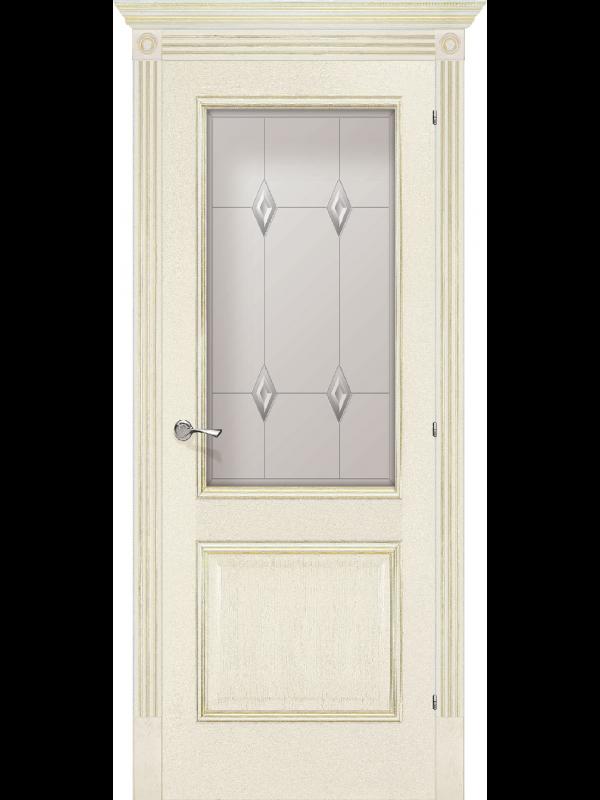 Триест со стеклом - Межкомнатные двери, Шпонированные двери