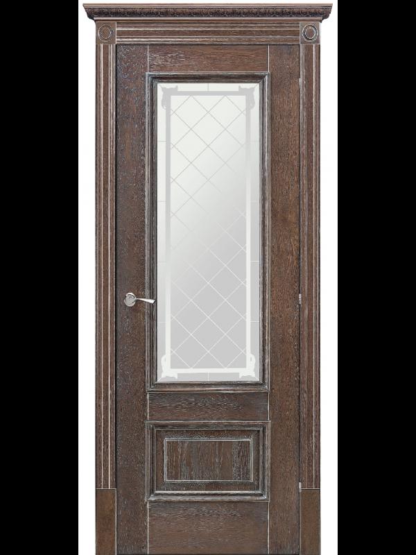 Ромула 1 со стеклом - Межкомнатные двери, Шпонированные двери