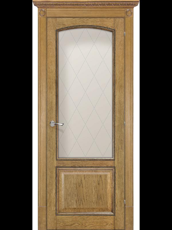 Верона де Канте со стеклом - Межкомнатные двери, Шпонированные двери