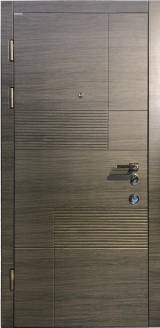 Conex  мод. 107 Цвет Венге серый горизонт - Входные двери, Входные двери в квартиру