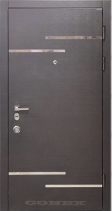 Conex модель 200. МДФ.  цвет венге горизонт темный (термопал)+н/ж - Входные двери