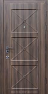 Conex мод.62. МДФ. Ясень коричневый/белый супермат - Входные двери