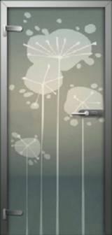 Inter Vetro Одуванчики - Межкомнатные двери, Стеклянные двери
