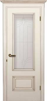 Йорк со стеклом - Межкомнатные двери, Шпонированные двери