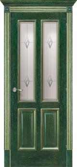 Плимут со стеклом - Межкомнатные двери, Халес - двери шпонированные Киев