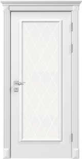 Asti со стеклом - Межкомнатные двери, Rodos - двери белые межкомнатные Киев
