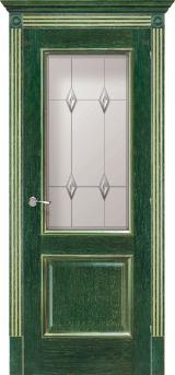Триест со стеклом - Межкомнатные двери, Халес - двери шпонированные Киев