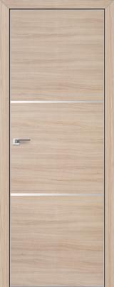 VA02 - Межкомнатные двери, Двери на складе Eco Veneer Aluminium