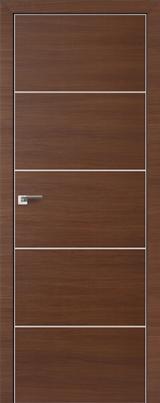 VA07 - Межкомнатные двери, Двери на складе Eco Veneer Aluminium
