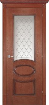 Валенсия со стеклом - Межкомнатные двери, Халес - двери шпонированные Киев