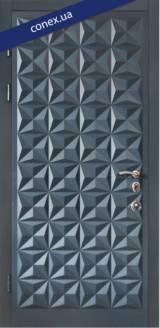Модель 50. МДФ. RAL 7026 - Вхідні двері