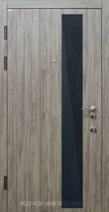 Conex Модель 52 дуб английский. Снаружи черное стекло, внутри зеркало - Вхідні двері, Двері внутрішні (в квартиру)