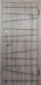Conex мод 74 дуб орион/внутри 74 супермат белый - Вхідні двері, Двері внутрішні (в квартиру)
