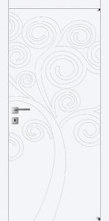 FL9 - Міжкімнатні двері, Білі двері