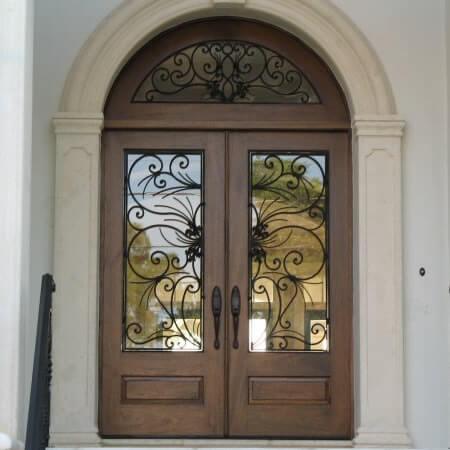 арочные входные двери купить